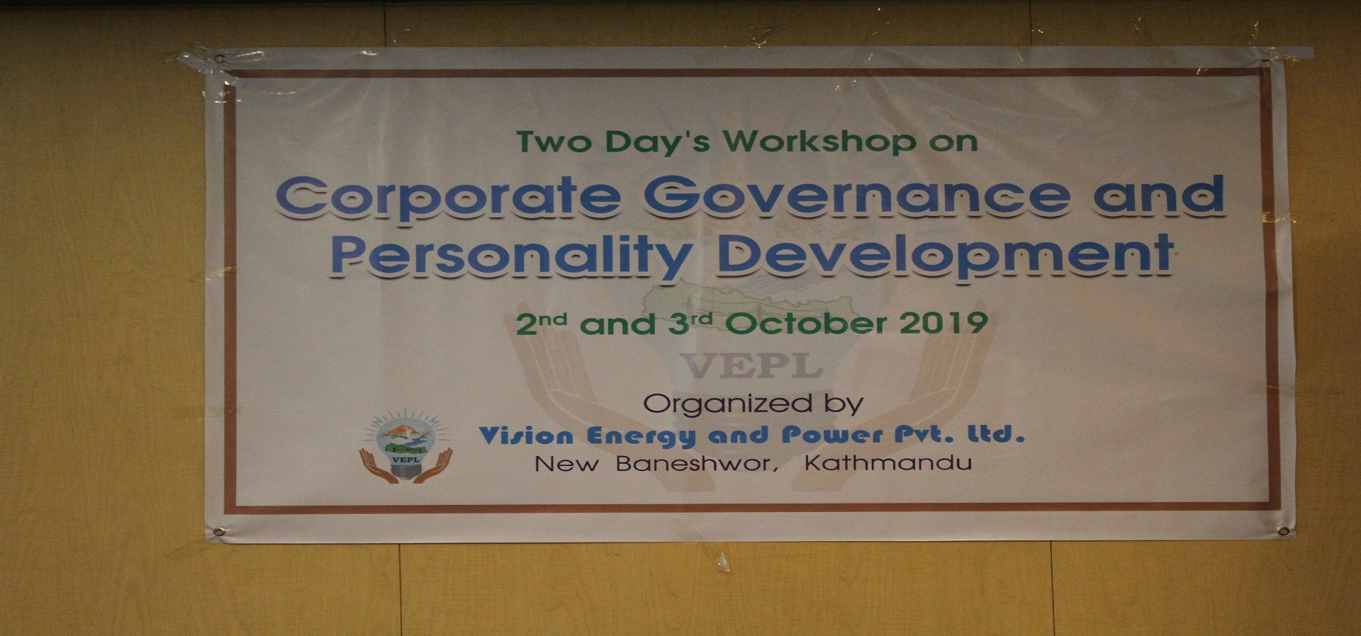 Two Day's Workshop on Corporate Governance and Personality Development